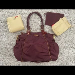 Storksak Olivia Diaper Bag in Maroon